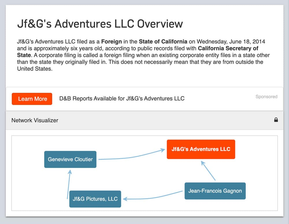 Page officielle ➡️ https://www.corporationwiki.com/p/2fbuka/jfgs-adventures-llc