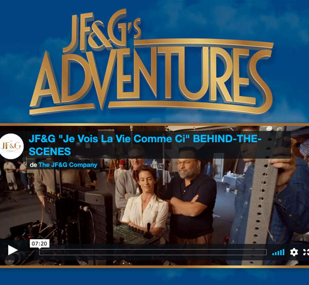 "JF&G's Adventures:, Je Vois La Vie Comme Ci, The Musicals Instrumental Themes, www.jfgcompany.com,(Actors: Brey Chanadet, Alexandra Hulme, Charissa Kroeger, Emily Crouch, Evan Strand, KC Monnie, Mason Trueblood, Taylor Banks, Valentino Vladimirov, Devin Kopera, Gavin Meredith, Natallia Serikova, Casey Marshall, Cooper), Lovaganza 2015, Lovaganza 2020, The Lovaganza Convoy, The Lovaganza Foundation, www.lovaganza.com, The Markare Company, LLC, 4 Stars Group, Momentum Records, Momentum E. Productions: www.mep.world, THE JF&G COMPANY, JF&G, JF&G RECORDS, JF&G Pictures LLC, J.F. Gagnon, Jean-François Gagnon, Geneviève Cloutier Gagnon, Fer Rouge Creative Company, Helian Way Films, MARKARE, Karine Lamarre, Karine Fortin, Karine L Fortin, Mark-Erik Fortin, Marc-Éric Fortin, Mathieu Carignan, Matt Carignan, Marie-Ève Malherbe, Marie Malherbe, Louise Larente, Maurice Lalonde, SURVEILLÉS PAR:, AMF: Autorité des marchés financiers, Securities and Exchange Commission (AMF-USA), Sûreté du Québec, SPVM, www.Lovaganza-Scandal.com, AUTRES CIES:, Oneland, One-land, Oneland World, Sunshine Way Management, Safe Passage Entertainment, Road One Entertainment, Jean-Francois Gagnon - ""JF"", Genevieve Gagnon - ""G"""